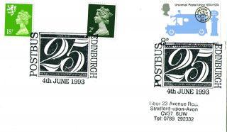 4 June 1993 25th Anniversary Of The Postbus Cover Edinburgh Shs photo