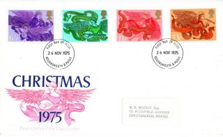26 November 1975 Christmas Post Office First Day Cover Bournemouth Fdi photo
