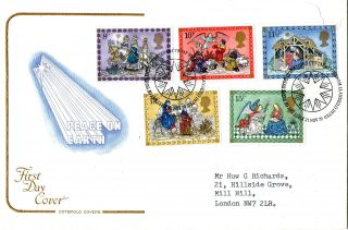 21 November 1979 Christmas Cotswold First Day Cover Bethlehem Shs photo