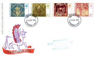 24 November 1976 Christmas Post Office First Day Cover Battersea Fdi photo