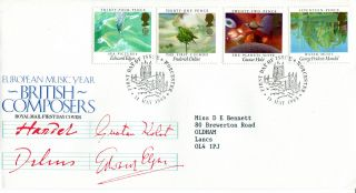 14 May 1985 British Composers Royal Mail First Day Cover Worcester Shs (w) photo