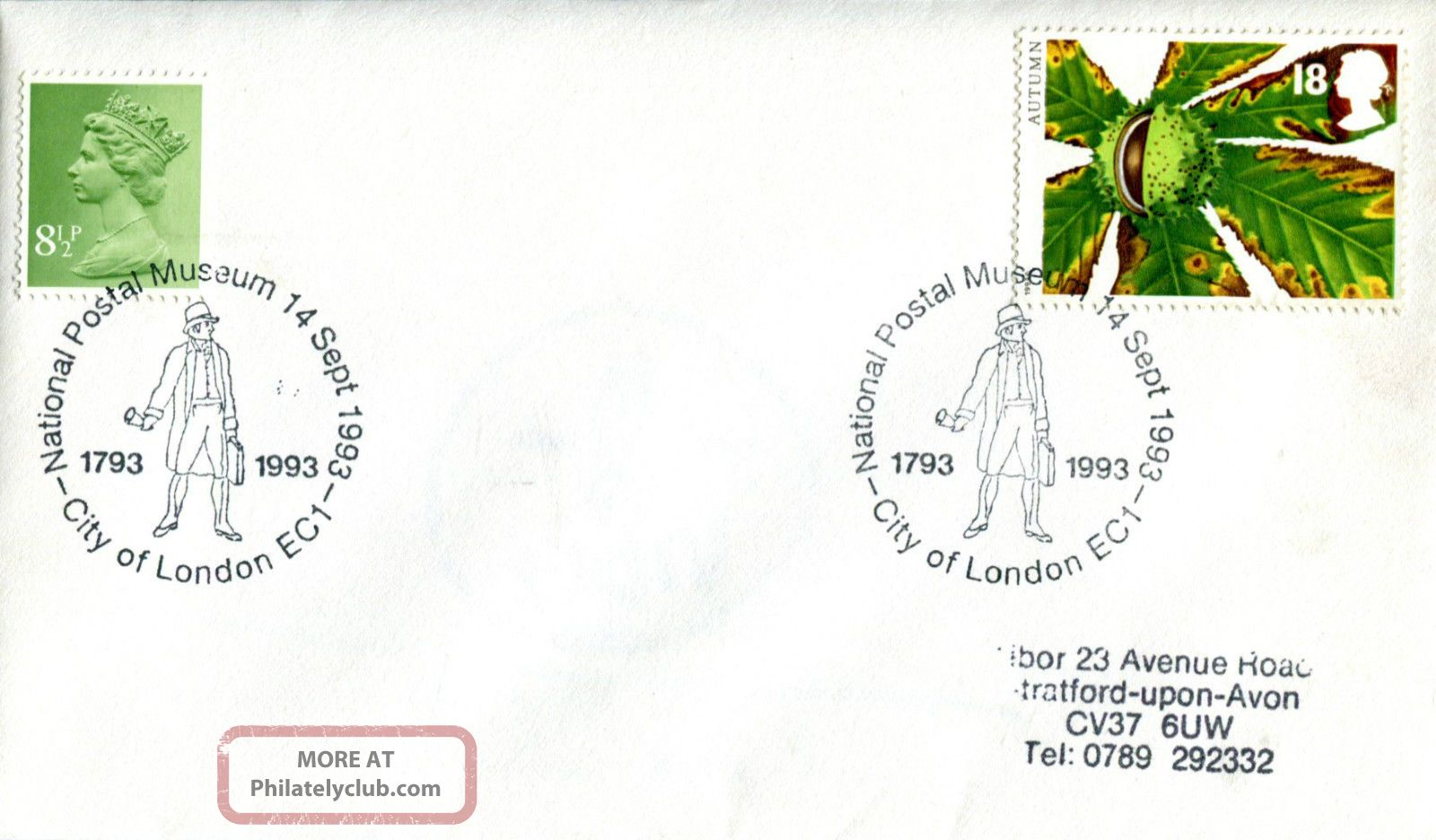 14 September 1993 Autumn First Day Cover National Postal Museum Shs (a) Topical Stamps photo