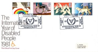 25 March 1981 Year Of Disabled People Post Office First Day Cover Carters Shs photo