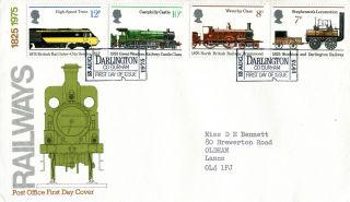 13 August 1975 Railways Post Office First Day Cover Darlington Ticket Shs W photo
