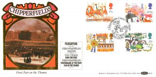 5 October 1983 British Fairs Benham Bls 6 First Day Cover Chipperfield Circus photo
