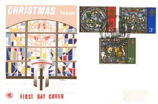13 October 1971 Christmas Wessex First Day Cover Canterbury Shs photo