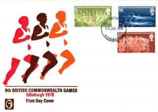 15 July 1970 Commonwealth Games Cameo Unaddressed First Day Cover Edinburgh Fdi photo