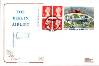 12 May 1999 Berlin Airlift Label Cyl Cotswold First Day Cover Raf Lyneham Shs photo