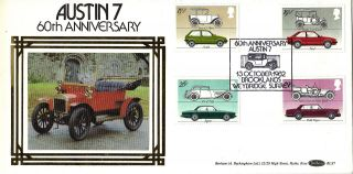 13 October 1982 British Motor Cars Benham Bls 7 First Day Cover Brooklands Shs photo