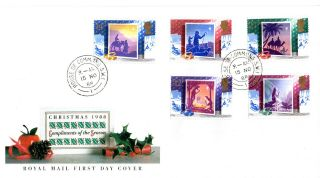 15 November 1988 Christmas Royal Mail First Day Cover House Of Commons Sw1 Cds photo