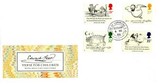 6 September 1988 Edward Lear Royal Mail First Day Cover House Of Commons Cds photo