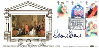 28 April 1982 British Theatre Benham Fdc Signed Opera Singer Geraint Evans Shs photo