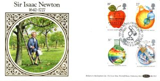 24 March 1987 Sir Isaac Newton Benham Blcs 21 First Day Cover Greenwich Shs photo