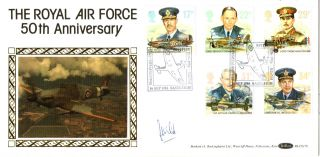 16 September 1986 Royal Air Force Benham Pilot Signed First Day Cover photo