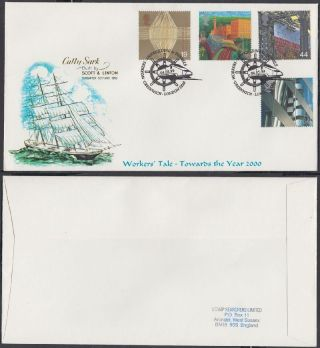 1999 Workers ' Tale Scarce Stamp Searchers Fdc; Shipbuilding & Tunnels Greenwich photo