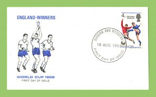 G.  B.  1966 Football World Cup Winners Cameo First Day Cover,  Harrow & Wembley photo