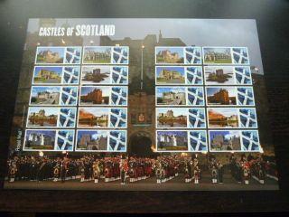 Ls68 2009 Castles Of Scotland Royal Mail Generic Smilers Sheet photo