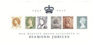 Gb Diamond Jubilee Miniature Sheet - Ms3272,  2012. photo