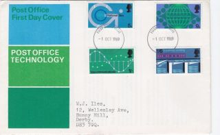 1969 Post Office Technology Fdc Derby Fdi photo