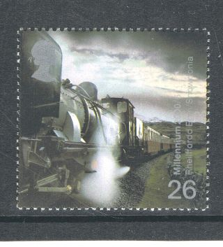Garratt Steam Locomotive No 143 Welsh Highland Railway On 2000 British Stamp photo