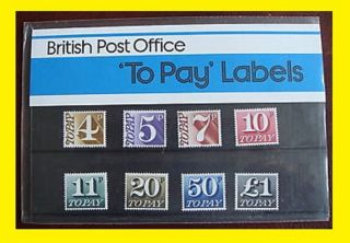 1977 Postage Due 1/2p To £1 Presentation Pack 93 photo