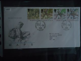 Great Britain First Day Cover 1991 Maps.  Southampton Postmark photo