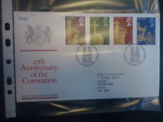 Great Britain First Day Cover 1978 25th Anniversary Of Coronation.  London Sw1 photo