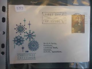 Great Britain Fdc 1967 4d Christmas (bethlehem Llandeilo) photo