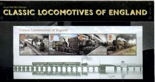 Special Price England Classic Locomotives Mini Sheet Presentation Pack 2011 photo