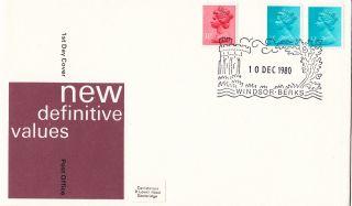 (29249) Clearance Gb Fdc 0.  5p Machin Pcp - Windsor 10 December 1980 photo