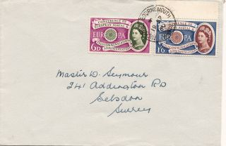 (21901) Gb Fdc Europa Cept - Bournemouth Cds 19 September 1960 photo