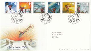 (30286) Gb Fdc Father Christmas - Tallents 2 November 2004 photo