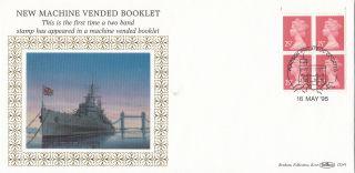(31308) Gb Benham Fdc Machine Vend Booklet Pane 25p D241 - Windsor 16 May 1995 photo