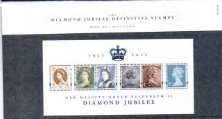 Special Price Diamond Jubilee Mini Sheet Presentation Pack 2012 photo