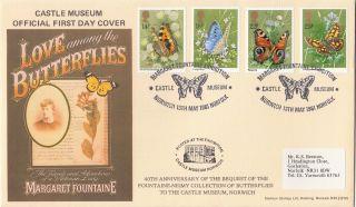 (28000) Gb Castle Museum Fdc Butterflies - Norwich 13 May 1981 photo