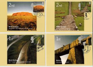 2005 World Heritage Sites Phq Cards With Related Front Fdi Handstamps No 275 photo