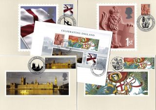 2007 Celebrating England Phq Cards With Related Fdi Handstamps No Cgb3 photo