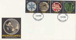 (26403) Gb Fdc Microscopes - South Devon 5 September 1989 photo