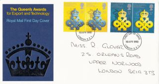 (26398) Gb Fdc Queen ' S Award For Export & Technology - London Se1 10 April 1990 photo