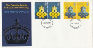 (26397) Gb Fdc Queen ' S Award For Export & Technology - South Devon 10 April 1990 photo