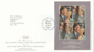 (30294) Gb Fdc Prince Charles Camilla Wedding Minisheet Tallents 8 April 2005 photo