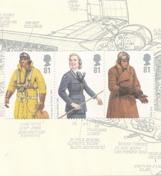 (31355) Gb British Raf Uniforms 1st Part Booklet Pane From Dx42 2008 photo