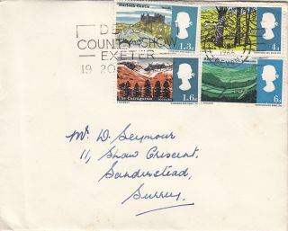 (21895) Gb Fdc Lanscapes Non - Phos - Devon County Show Slogan 2 May 1966 photo