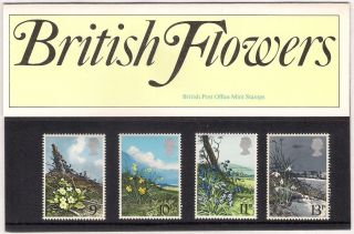 Gb 1979 Flowers - Primrose Daffodil Bluebell Snowdrop Presentation Pack 107 photo