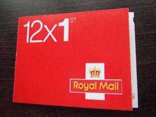 Mf7 / Sb1 (22) Cyl W5 W1 (w2) 2013 Rm Red Mtil / M12l 12 X 1st Class Booklet photo