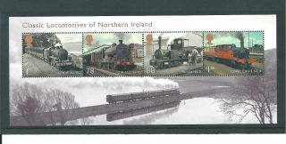 Gb Miniature Sheet - 2013 - Ms02 - Classic Locomotives - Nth Ireland - Unm photo