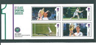 Gb Miniature Sheet - 2013 - Ms03 - Andy Murray - Wimbledon Tennis - Unm photo