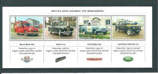 Gb Miniature Sheet - 2013 - Ms04 - British Auto Legends - Unm photo