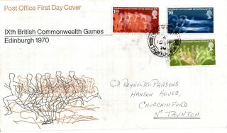 15 July 1970 Commonwealth Games Post Office First Day Cover Taunton Cds photo