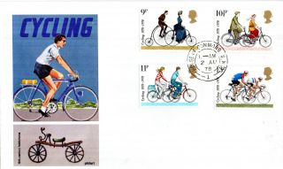 2 August 1978 Cycling Centenary Philart First Day Cover House Of Commons Sw1 Cds photo